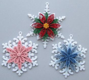 Снежинка поделки с квиллинга